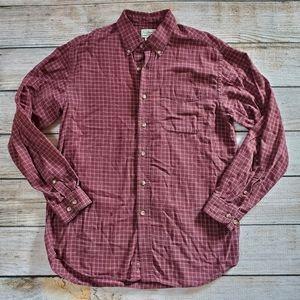 L.L.Bean Maroon Plaid Buttondown Shirt